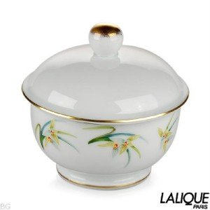 Authentic LALIQUE Sucrier Orchidees Collection
