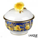 Authentic LALIQUE Sucrier Coquelicots Dor Collection