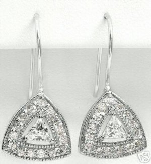 New 1.88ctw Cubic Zirconia Earrings