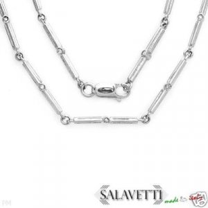 New SALAVETTI Necklace w/0.73ctw Clean Diamonds- 18K WG