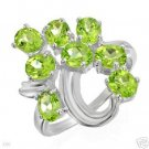 Wonderful Ring with 2.80ctw Genuine Peridots