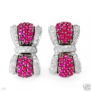 New Earrings w/2.93ctw Diamonds & Rubies