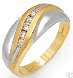 Stunning Gent's  Ring With Genuine Clean Diamonds