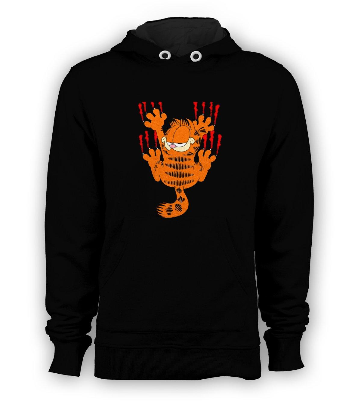 Garfield Pullover Hoodie Men Sweatshirts Size S to 3XL New Black