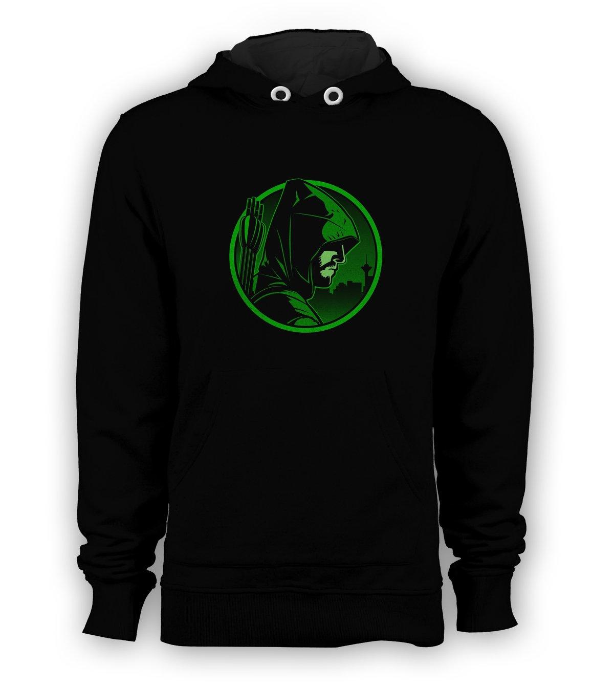 Green Arrow Movie DC Comic Pullover Hoodie Men Sweatshirts Size S to 3XL New Black
