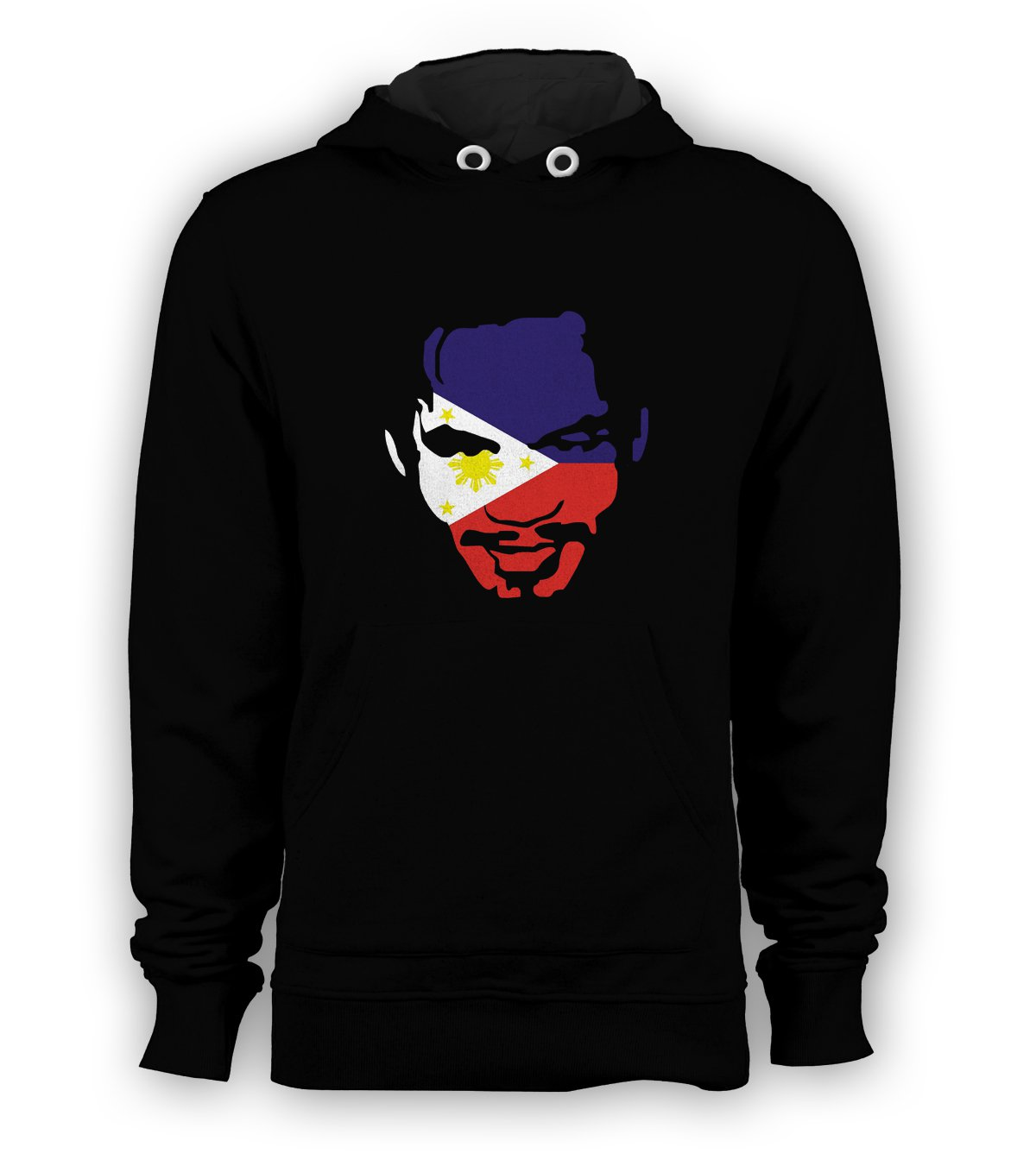 Manny Pacquiao Face Boxer Pullover Hoodie Men Sweatshirts Size S to 3XL New Black