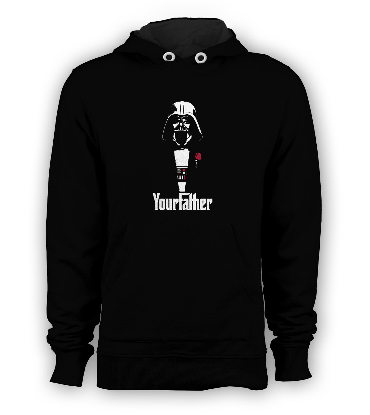 "YourFather ""GodFather"" Humor Pullover Hoodie Men Sweatshirts Size S to 3XL New Black"
