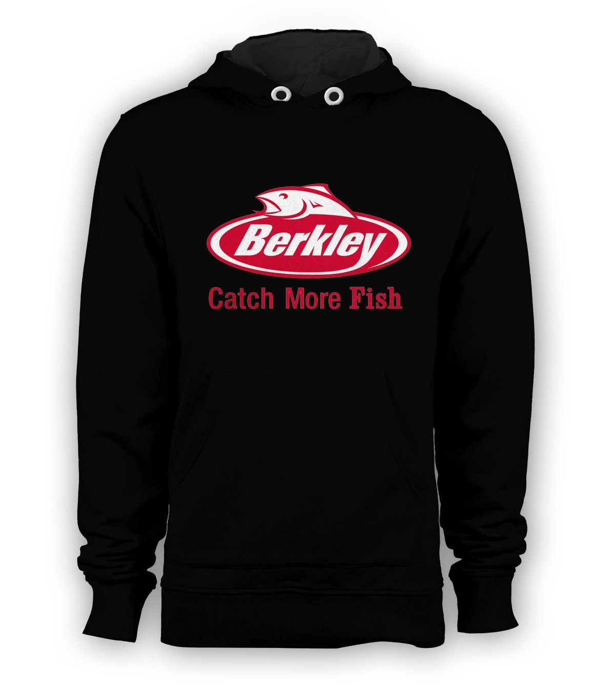Berkley Fishing Pullover Hoodie Men Sweatshirts Size S to 3XL New Black