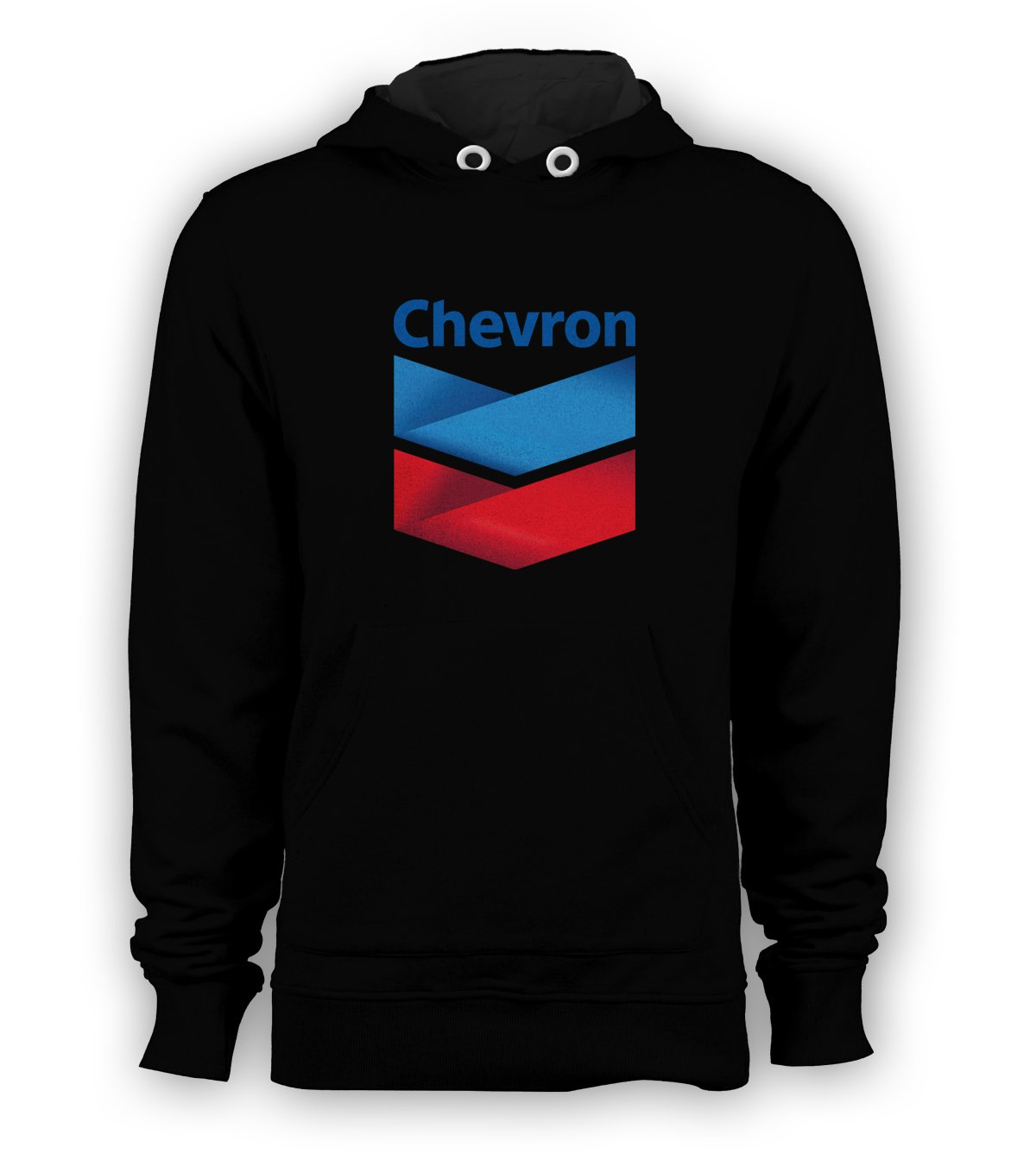 Chevron Logo Pullover Hoodie Men Sweatshirts Size S to 3XL New Black