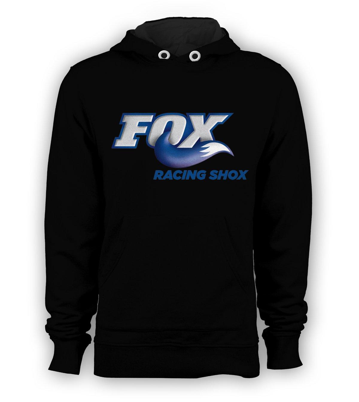 Fox Racing Shox Pullover Hoodie Men BMX Skateboard X-Games Sweatshirts Size S to 3XL New Black