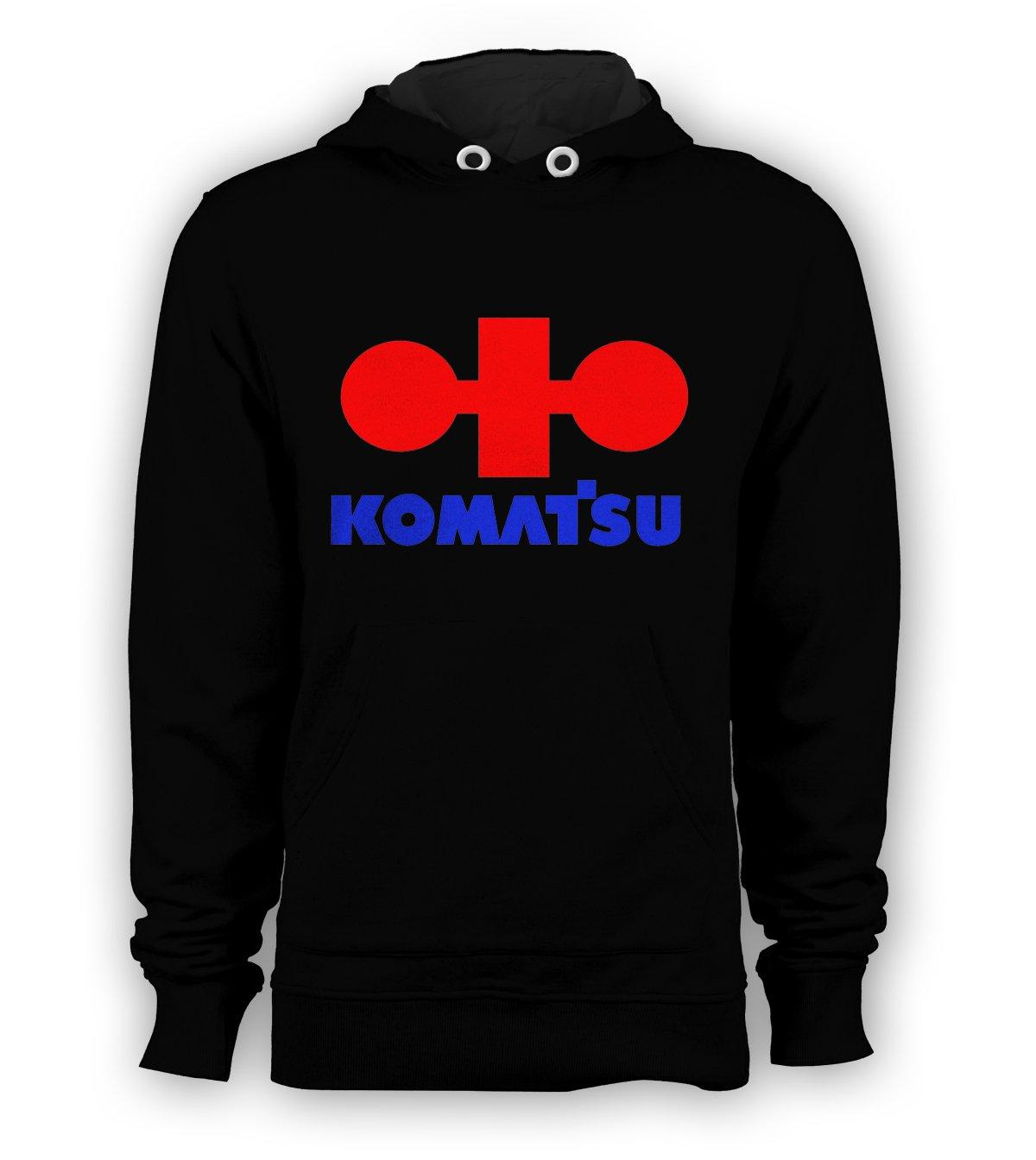 Komatsu Logo Pullover Hoodie Men Sweatshirts Size S to 3XL New Black