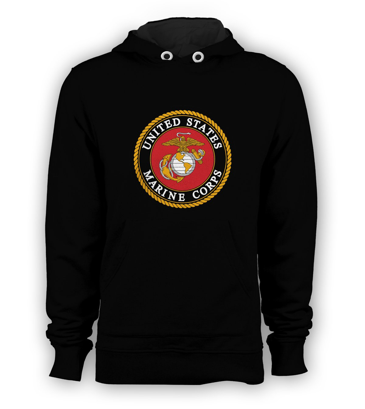 US Marine Corps USMC Pullover Hoodie Men Sweatshirts Size S to 3XL New Black
