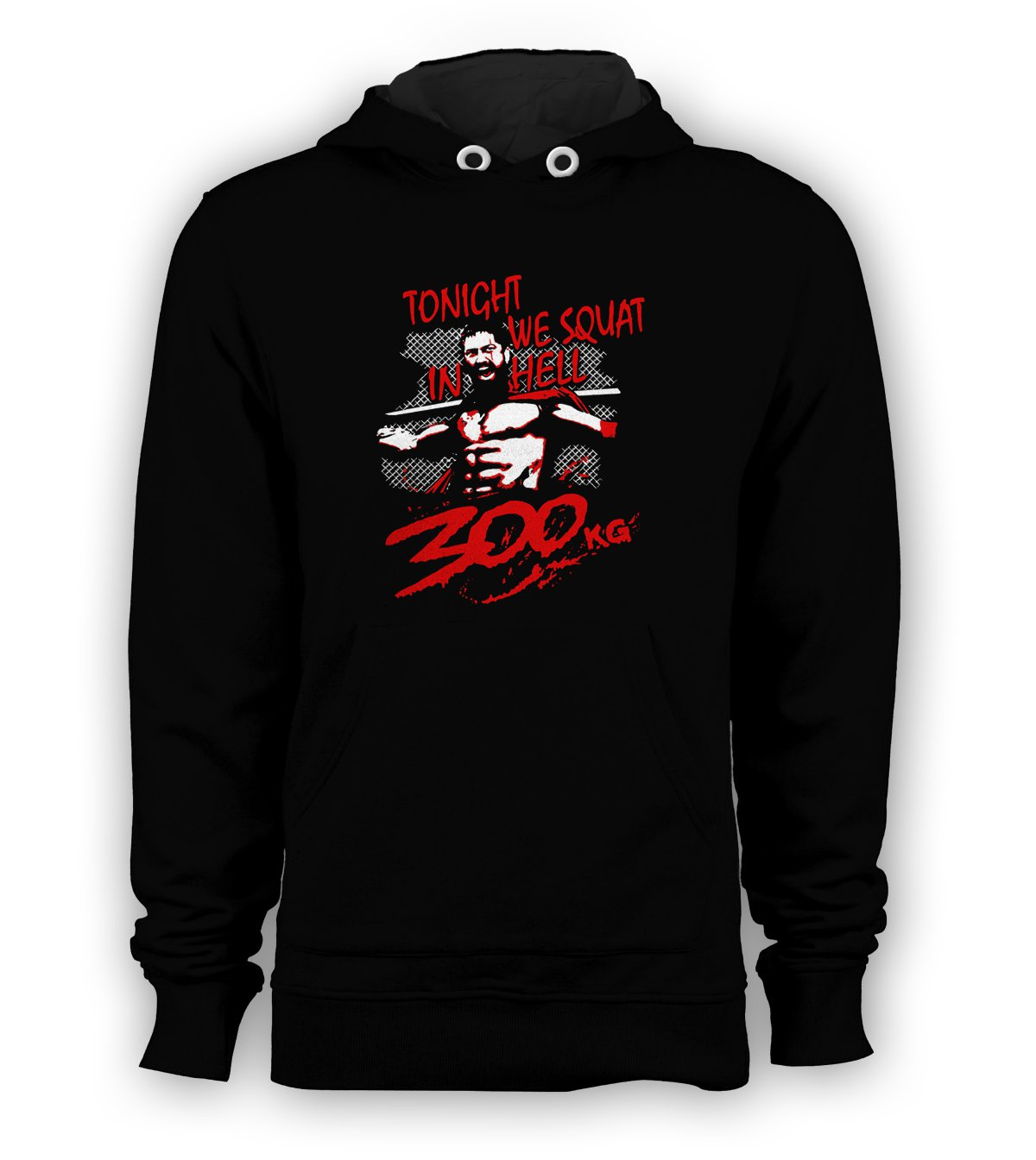 GYM TRAINING TONIGHT WE SQUAT IN HELL Pullover Hoodie Men Sweatshirts Size S to 3XL New Black