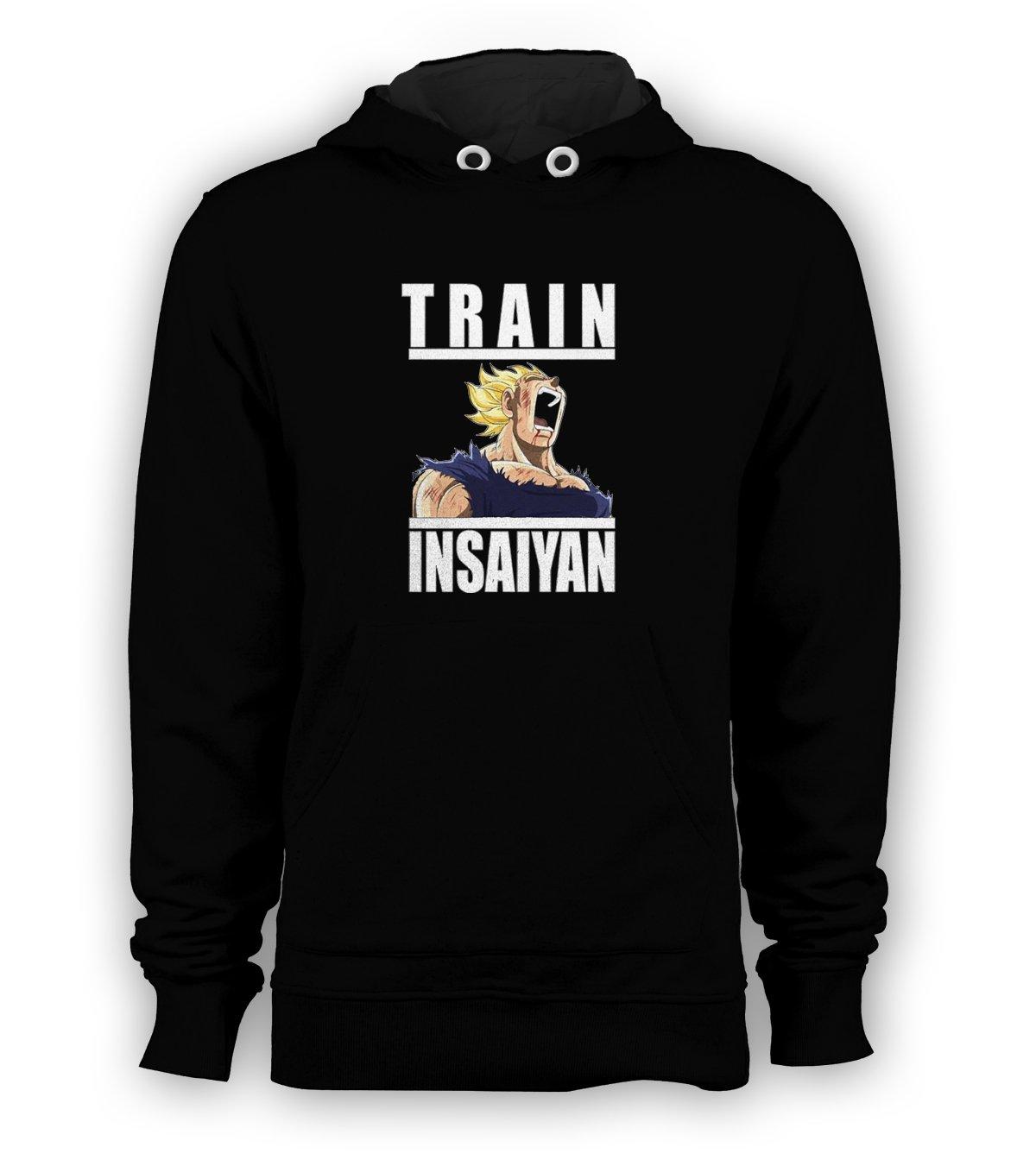 Train Insaiyan DBZ Super Gym Dragon Ball Z Pullover Hoodie Men Sweatshirts Size S to 3XL New Black