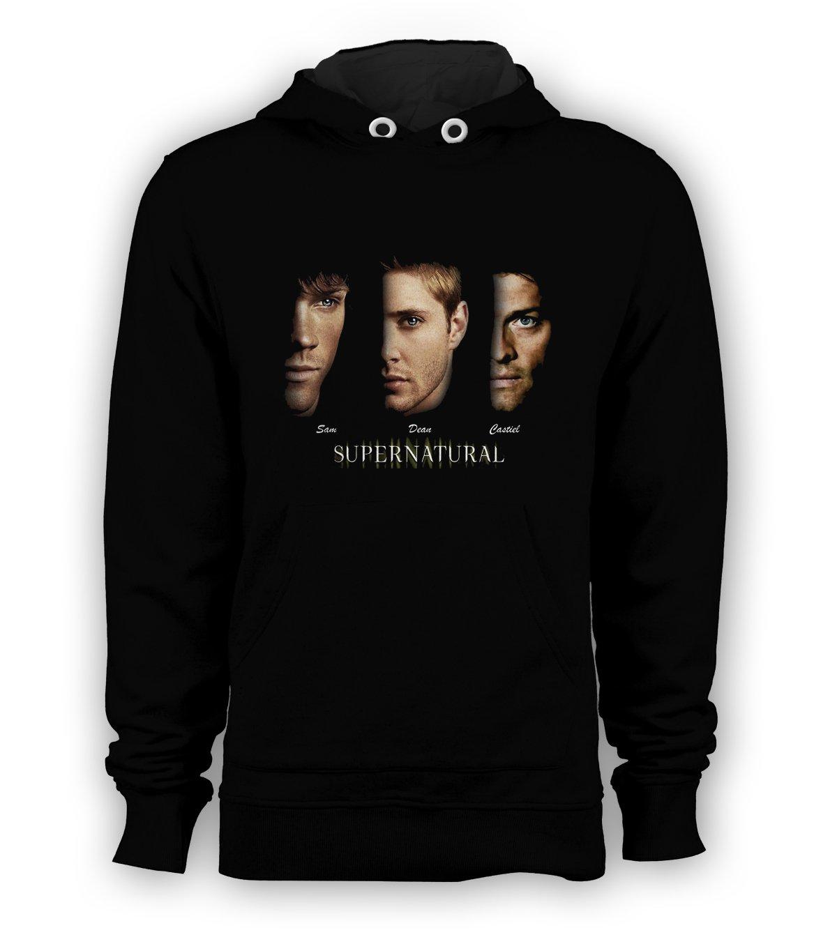 SUPERNATURAL Sam Dean Castiel Pullover Hoodie Men Sweatshirts Size S to 3XL New Black