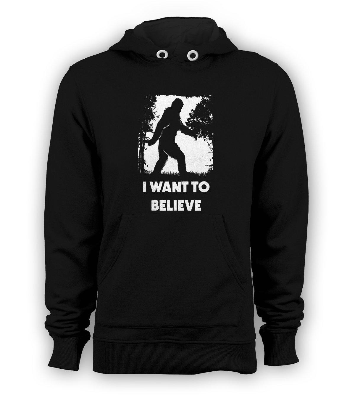 Bigfoot Sasquatch I Want To Believe Men's Pullover Hoodie Sweatshirts Black New