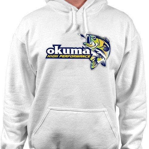 OKUMA Fishing High Performance Pullover Hoodie Reel Sweatshirt Tackle Hooded New