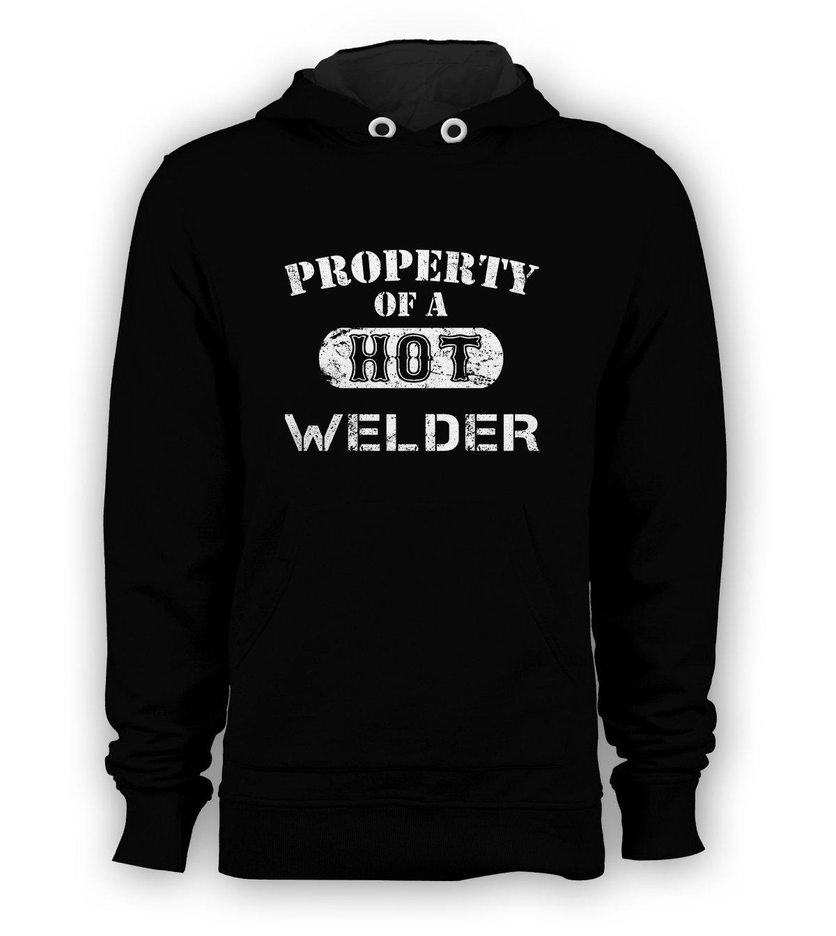 Property Of A Hot Welder Pullover Hoodie Sweatshirt Harbor Freight Stick Mig