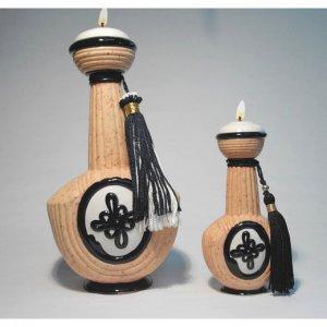 KOSMET Genie of LUCK Ceramic Oil Lamp Large 10 inch #2604