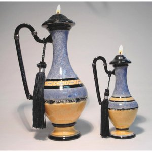 GIZEM Genie of MYSTERY Ceramic Oil Lamp Large 10 inch #2606