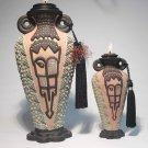 TEZCAN Genie of IMPULSE Ceramic Oil Lamp SMALL 6 inch #2007 - 3 Wishes FREE
