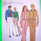 Vintage Sewing Pattern 1970's Big Mens 42 Unlined Jacket Pants Leisure Suit Simplicity 5590