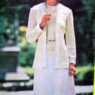 Uncut 70's Vintage B 32.5 Sleeveless Dress & Cardigan Jacket See & Sew Sewing Pattern 5776