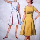 60s Teens Princess Seam DRESS Inverted Pleat B 29 Vintage Sewing Jrs Retro Pattern 5364