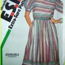 Uncut 80s Vintage Dress B 32.5 34 36 Boho Retro Sewing Pattern Pattern 6400