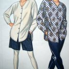 90's Misses Pants Shorts Loose Fitting Long Tail Shirt Simplicity Easy Uncut Sewing Pattern 8109