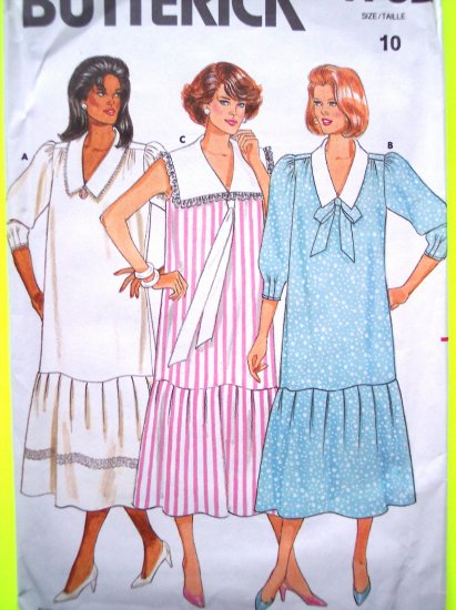 1980's Maternity Pullover Dress Sailor B 32.5 Sz 10 Vintage Butterick Sewing Pattern 4762