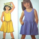 80's Vintage Pullover Drop Waist SunDress Sz 5 6 6x Sun Dress Knit Sewing Pattern 8140