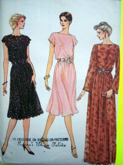 Vintage 70s Vogue Slip Dress Evening Midi Cocktail Maxi Gown B 30 1/2 - 31 1/2 Pattern 8183