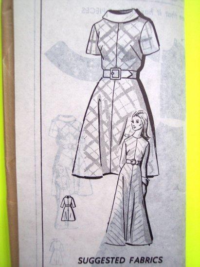 New Mod 60's Vintage Sewing Pattern A Line Dress Mini Maxi B 40 Plus Size 18 Mail Order 8246