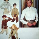 1970's Vintage Shirt B 34 Long Sleeve Blouse Tunic Top Retro Sewing Pattern 9138
