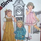 1980s Girls 3 T Cinderella Short & Maxi Puff Sleeve Dress Sundress Vintage Sewing Pattern 5470