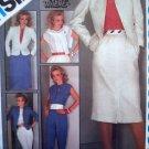 Uncut 80's Skirt Lined Jacket Pants Suit Go Everywhere Vintage Sewing Patterns 6272