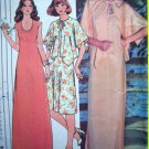 Vintage 1970's Vintage Sewing Pattern Scoop Neck Dress & Gown & Kimono Cover Up B 31.5 Pattern 5609