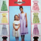 8 Great Girls 4 5 6 DRESS Overskirt Ribbon Sash McCall's Sewing Pattern 3035