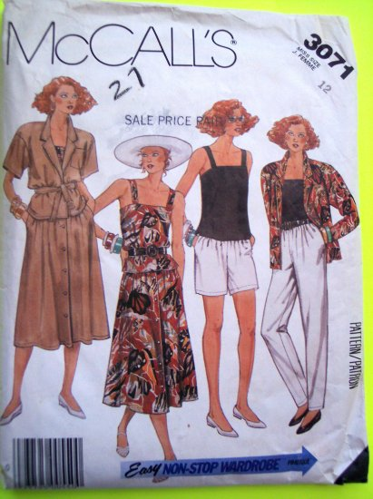 80s Vintage Sewing Pattern Cami Skirt Shorts Pants Belt Jacket Camisole B 34 Wardrobe 3071