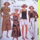 80s Vintage Sewing Pattern Cami Skirt Shorts Pants Belt Jacket Camisole B 34 Wardrobe 3071