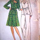 70s Vintage Sewing Pattern Pullover Tunic Top A Line Skirt Pants Suit Belt B 37 Sz 14 1/2 Retro 3621