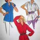 70s Vintage Sewing Pattern Shirt Band Front Pointed Collar Short & Long Sleeves B 36 Top Easy 6888