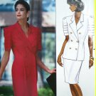 Uncut 90's Designer 2 pc Dress Top Skirt Suit B 36 38 40 Tucks Uncut Easy Sewing Pattern 4700