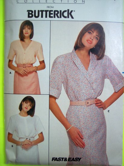 80's Loose Blouse Roll Up or Above Elbow Short Sleeves Sizes 14 16 18 Sewing Pattern 3692