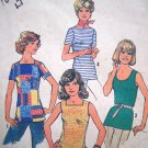 70's Vintage Sewing Pattern Summer Tunic Top Sleeveless SS Shirt B 38 Retro Simplicity 7533