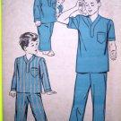 40s Boys Girls 2 T Pajamas Dr Nurse Scrub Shirt Pants Halloween Costume Vintage Sewing Pattern 4190
