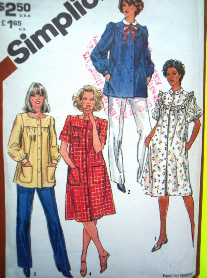 80s Vintage Smock Top Tunic Tent Dress Puff Long or Short Sleeve B 36 Sewing Pattern Pattern 5320