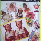 Infants NO Sew Halloween Costume Pattern Bunny Rabbit Devil Flower Santa Clown Angel Penguin 7988