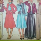 70s Vintage B 32.5 Hippie Vest Jacket Midi or Maxi Skirt Retro Suit McCall's Sewing Pattern 5869